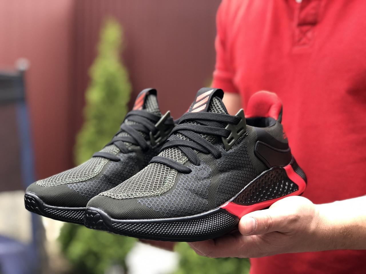 Мужские кроссовки Adidas черные / адидас (Топ реплика ААА+)