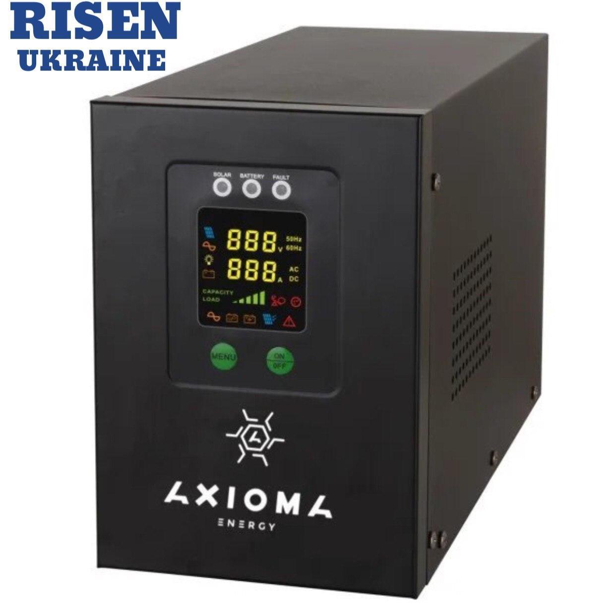 Гибридный ИБП AXIOMA energy AXEN.IS-800  +стабилизатор 800ВА (500Вт), 12В + MPPT контроллер 20А 12В