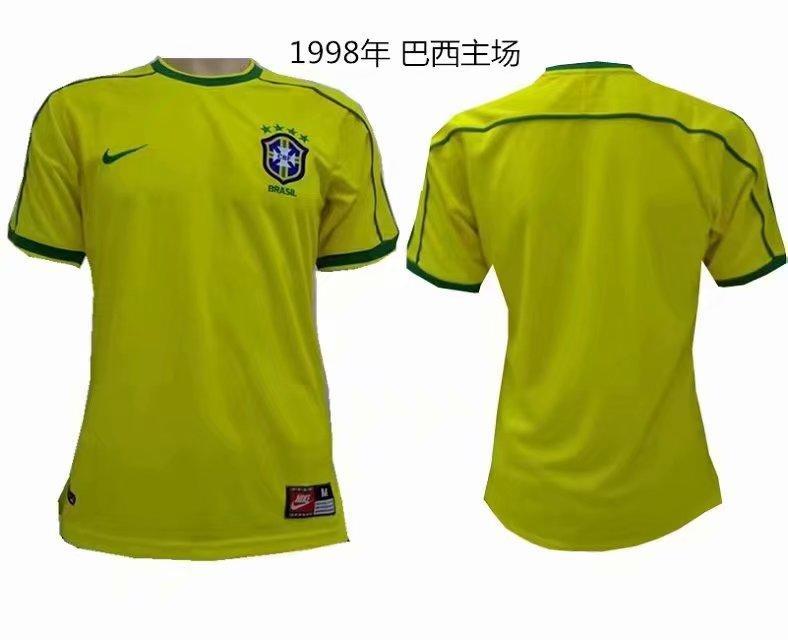 Ретро футбольная футболка сборной Бразилии ЧМ 1998