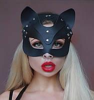 Маска Кошки портупея кожа женская