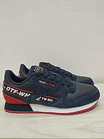 Кроссовки синие с красным подростковые BAAS, фото 1