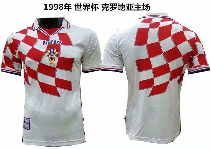 Ретро футбольная футболка сборной Хорватии ЧМ 1998