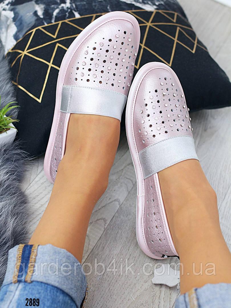 Женские туфли балетки натуральная кожа