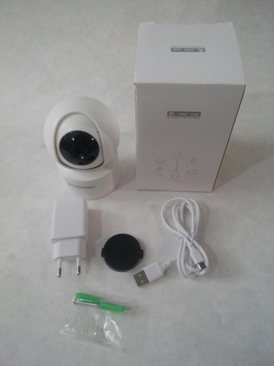 Беспроводная поворотная IP камера WiFi microSD CareCam 23ST комнатная