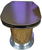 Унитаз нержавеющий для дачи (высокий, H=370мм)