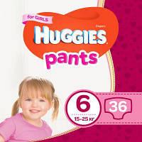 Подгузник Huggies Pants 6 для девочек (15-25 кг) 36 шт (5029053564050)