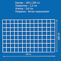 Сетка торговая 1000х2000 мм, яч. 50х50 мм, ф 2.5 мм