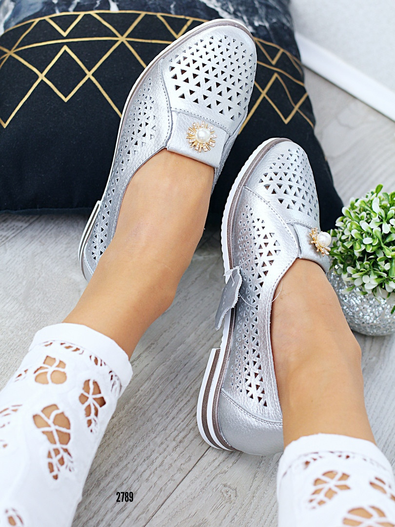 Женские удобные туфли кожа