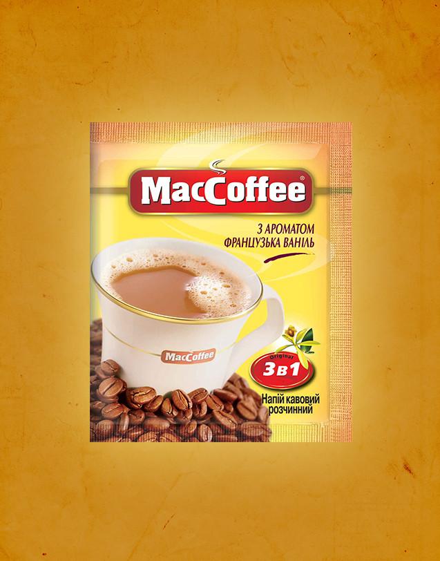 Кофейный напиток MacCoffee 3 в 1 Французская ваниль 20 пакетиков