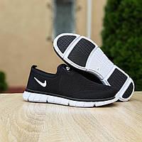 Кроссовки мужские Nike черные, Найк, дышащий материал, прошиты. Код OD-10154