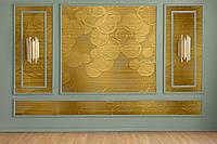 3D бeз вінілові шпалери в спальню під фарбування Мандала Круги 3D Mandala Circle 250 см х 155 см