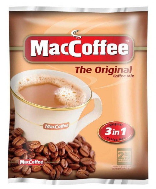 Кофе в пакетиках 3 в 1 MacCoffee Оригинал 25*20 г