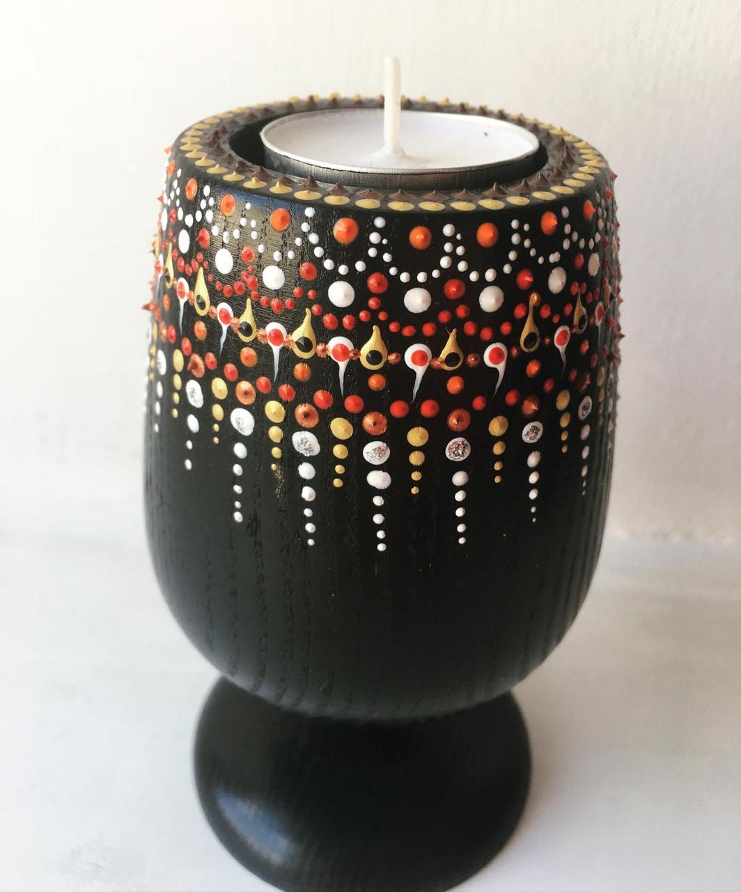 Необычайный подсвечник для чайной свечи