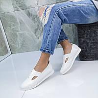 Женские туфли мокасины пресскожа с перфорацией, фото 1
