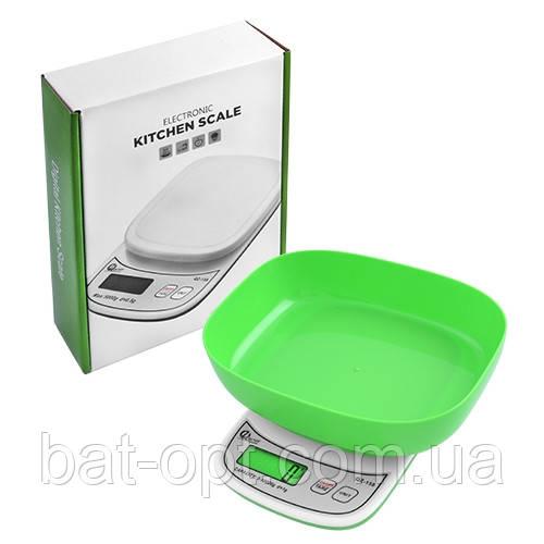 Весы кухонные QZ-158 10кг (1г) электронные с чашей