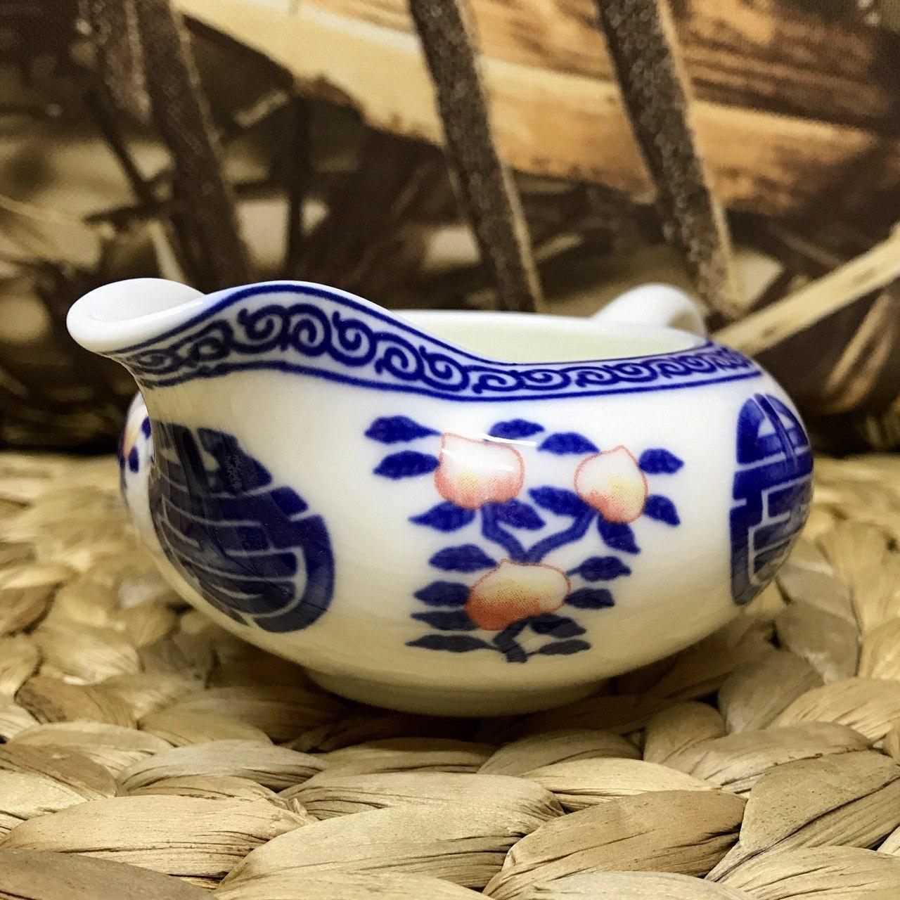 Чахай фарфоровая с китайской росписью 100 мл