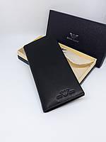 Мужской кожаный кошелек клатч портмоне черный
