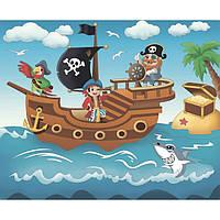 """Роспись по холсту. """"Пиратское приключение"""" 25*30 7140/2"""
