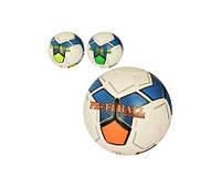 М'яч футбольний 2500-155 розмір 5, ПУ1,4мм, ручна робота, 32панели, 400-420 г, 3цвета,в кульку(2500-155)