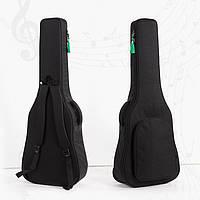 """Сумка-рюкзак под гитару акустическую полноразмерную 41"""" противоударная, цвет черный ( код: IBH019B )"""