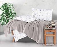 Комплект постельного белья с вафельным покрывалом Ранфорс  220*240 Pike (ТМ Aran Clasy) Metali v2 , Турция