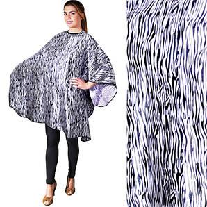 Накидка для стрижки зебра Eurostil 03524 размер 147х128см