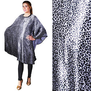 Накидка для стрижки серый леопард Eurostil 03522 размер 147х128см