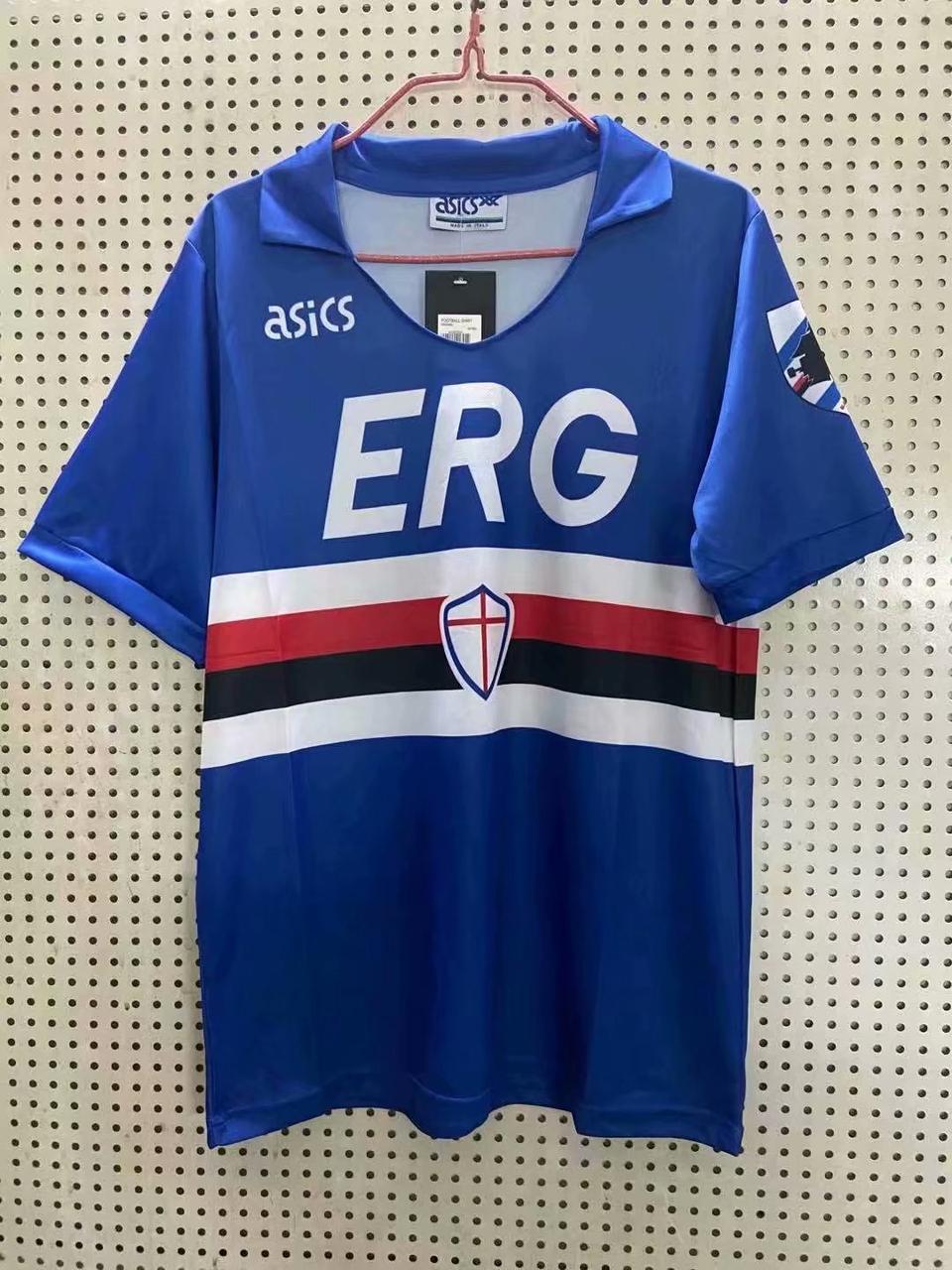 Ретро футбольная футболка Сампдория