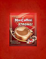 MacCoffee Strong напиток кофейный 3 в 1 50 пакетиков в пластиковой банке