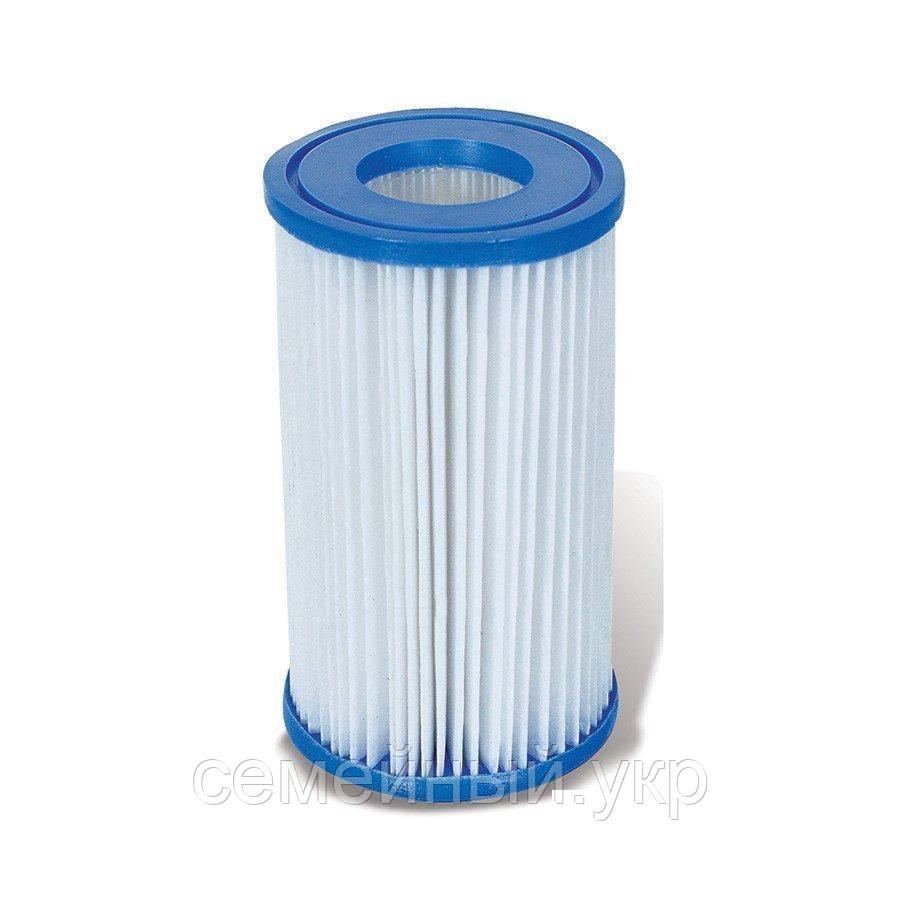 Фильтр для насос-фильтра 58095. Материал: прочная фильтровальная бумага. Размер: 25.4 х 14.2 см. Тип «IV»
