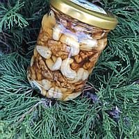 Мед с кешью и грецкими орехами 300г