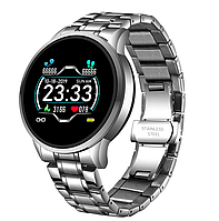 Мужские умные смарт часы Smart Watch HS-B28-HF Серебристые. Фитнес браслет трекер. Розумний смарт годинник