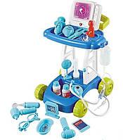 Игровой набор доктора с тележкой ГОЛУБОЙ арт. 8125-4, фото 1