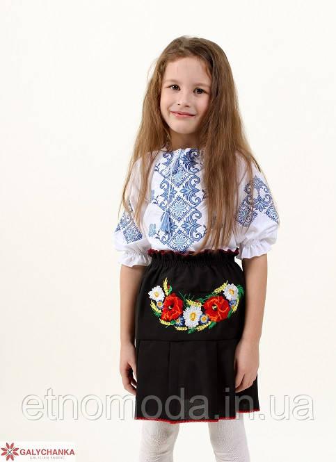 Спідниця для дівчинки (габардин) Стежка чорна - 122