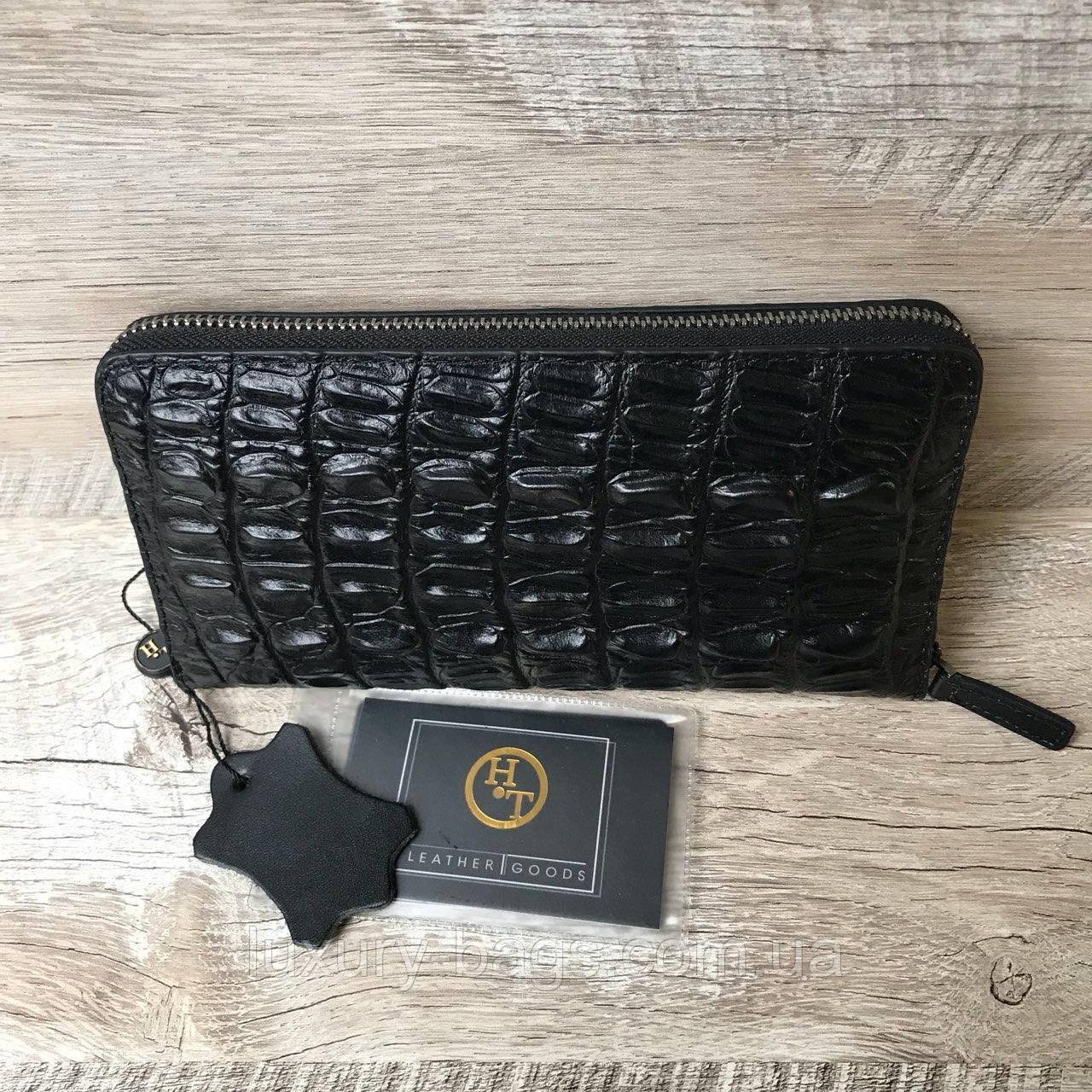 Шкіряний чоловічий гаманець під шкіру крокодила