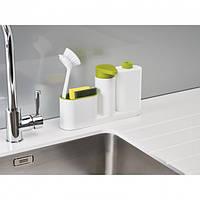 Органайзер для раковины с дозатором для мыла и бутылочкой Joseph SinkBase Plus зеленый, фото 1