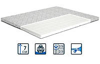 Беспружинный матрас Topper-futon 2 / Топпер-футон 2 бязь/жаккард ТМ Matroluxe ортопедический матрас на диван