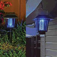 Уличный фонарь - уничтожитель комаров, мух, мошкары 50 кв.м. на солнечной батарее. Ловушка. Лампа от комаров