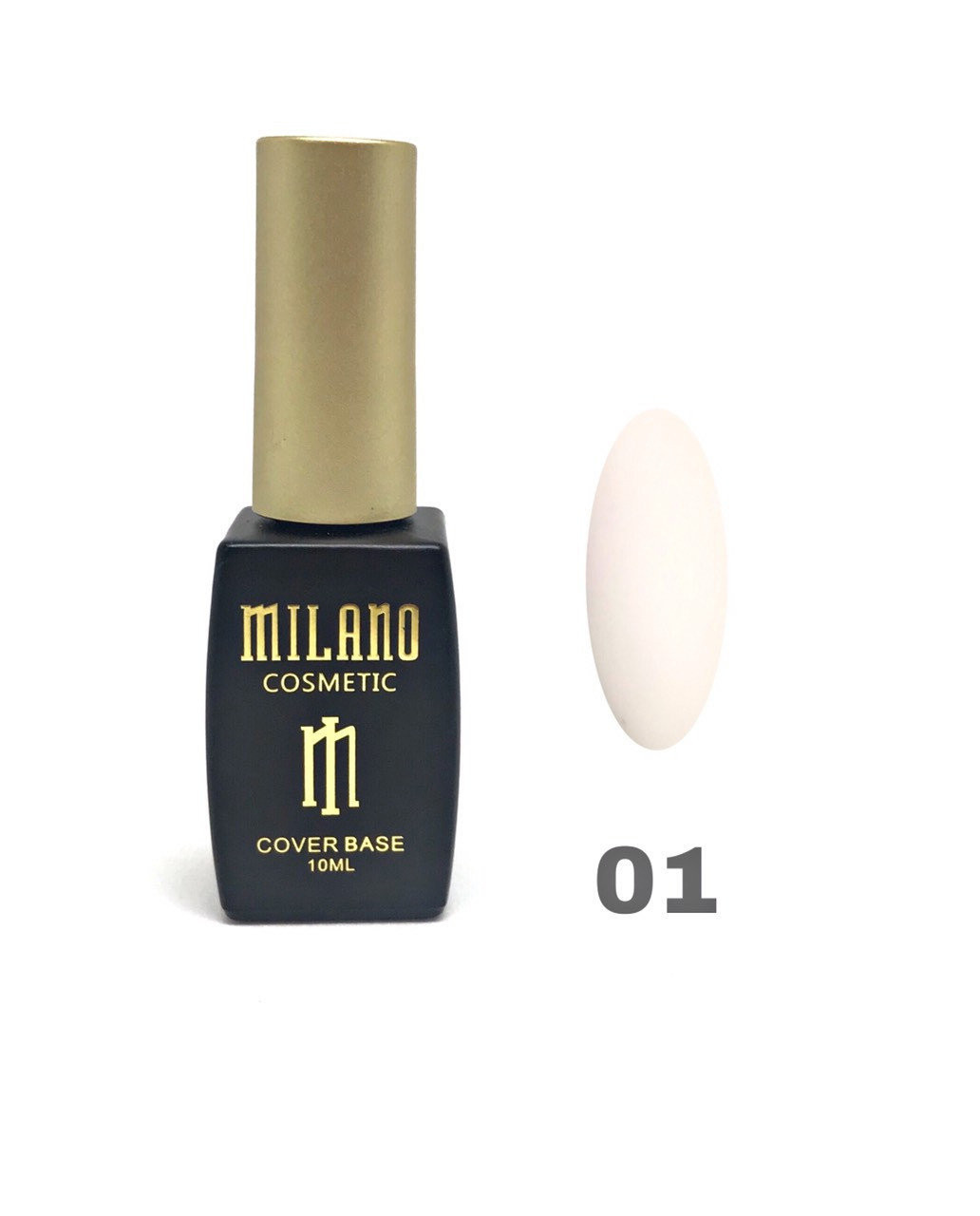 База для гель лака  Milano Cover Rubber Base Gel № 01, 10 мл