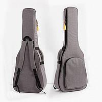 """Сумка-рюкзак под гитару акустическую полноразмерную 41"""" противоударная, цвет серый ( код: IBH019S )"""
