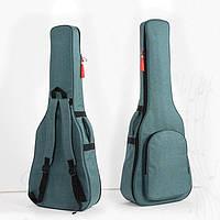 """Сумка-рюкзак под гитару акустическую полноразмерную 41"""" противоударная, цвет бирюзовый ( код: IBH019GL )"""