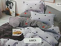Комплект постельного белья с принтом в светлых тонах.100% хлопок.