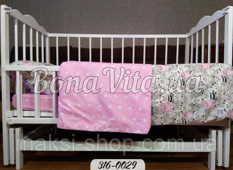 Постельное белье в кроватку ткань бязь Gold Bona Vita