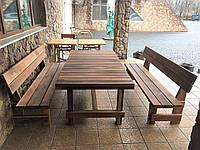 Дубовая массивная мебель 2000х1000 из массива дерева от производителя для дачи, Farmhouse Hand Made - 03