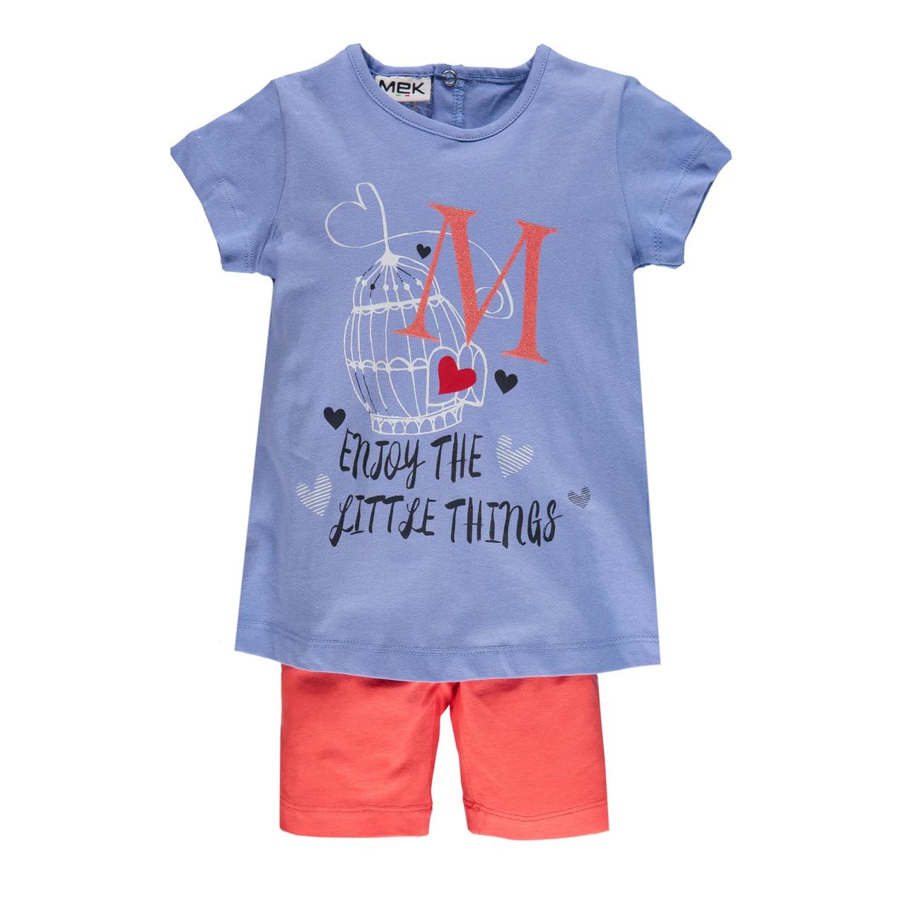 Комплект  футболка и леггинсы для девочки MEK   (р. 98-110) 201MEEM005-091