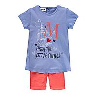 Комплект  футболка и леггинсы для девочки MEK   (р. 98-110) 201MEEM005-091, фото 1