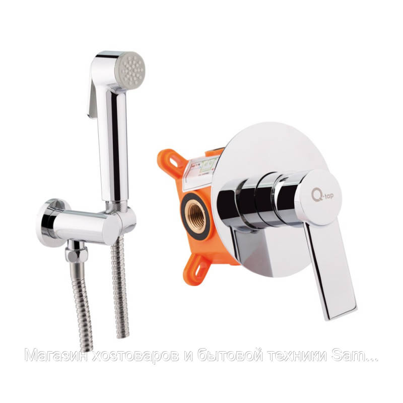 Набор для гигиенического душа со смесителем Q-tap Form CRM 001AB