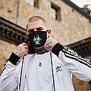 Олимпийка мужская в стиле Adidas Round белая, фото 4