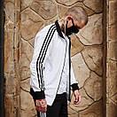 Олимпийка мужская в стиле Adidas Round белая, фото 6
