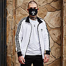 Олимпийка мужская в стиле Adidas Round белая, фото 2